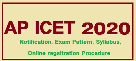 AP ICET 2020 Notification, Online Registration, Syllabus
