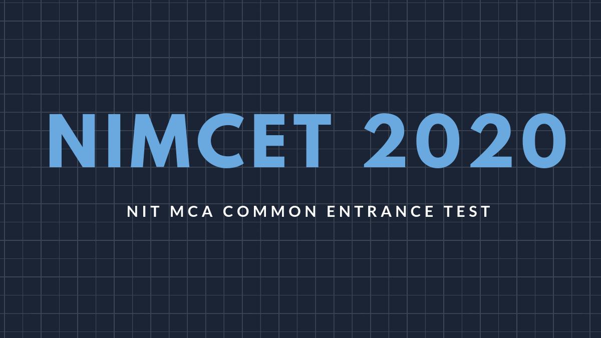 NIMCET 2020 - Apply Online
