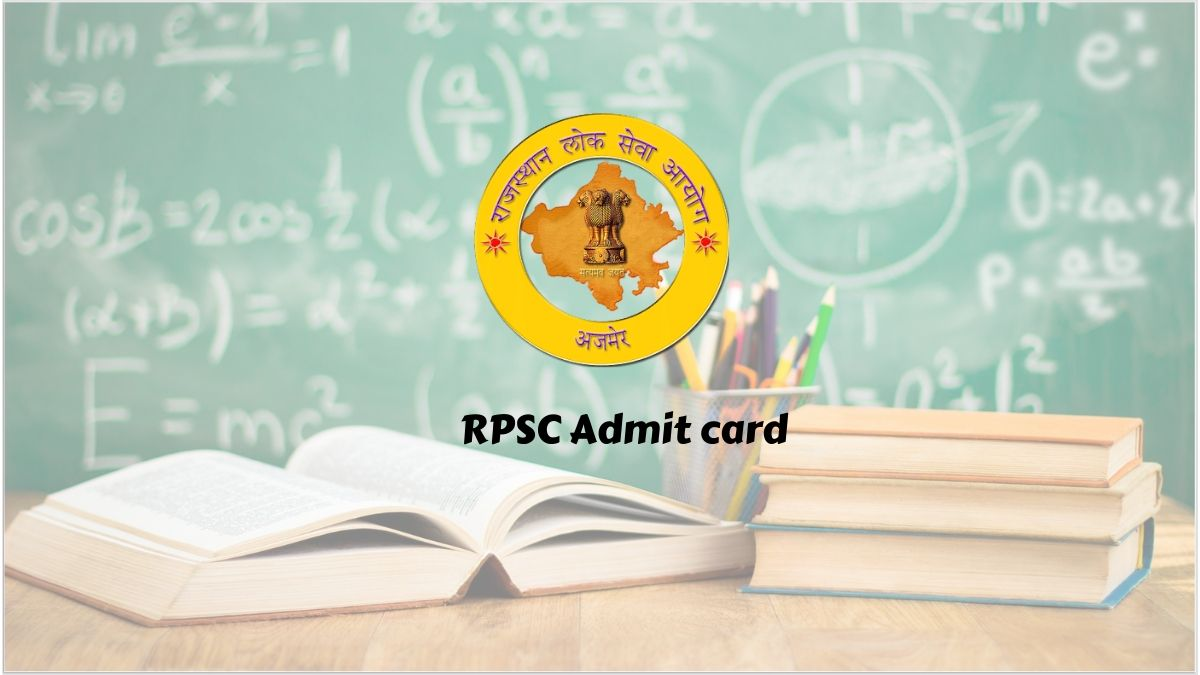 RPSC Assistant Engineer Admit Card 2020 - Rajasthan Public Service Commission