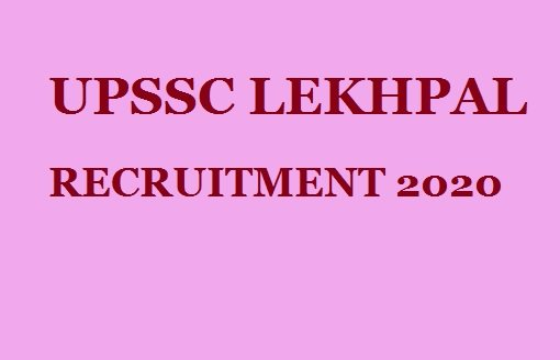 UPSSSC Lekhpal Recruitment 2020