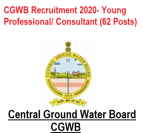 CGWB Recruitment 2020 - Apply Online