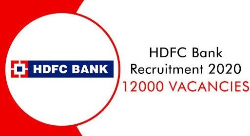 HDFC Recruitment 2020 - 12,000 Posts For Futures Bankers Batch