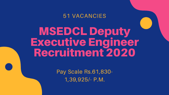 MSEDCL Recruitment 2020 Apply Online for 51 DEE posts
