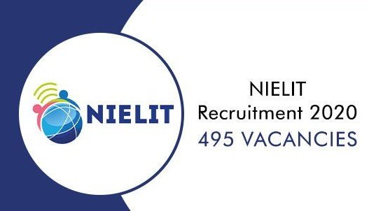 NIELIT Recruitment 2020 Apply Online for 495 Vacancies